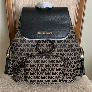 Michael Kors Large Abbey Cargo Backpack Black